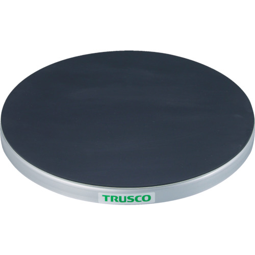 【TC6015G】TRUSCO 回転台 150Kg型 Φ600 ゴムマット張り天板(1台)