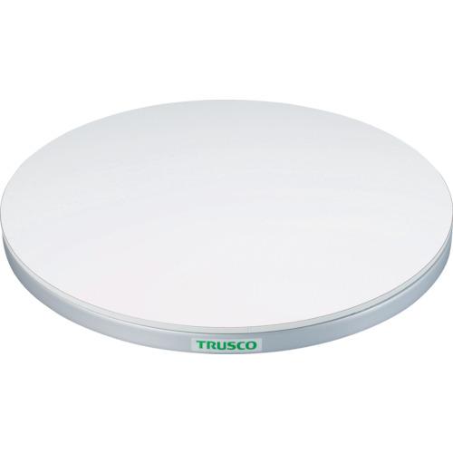 【TC6015W】TRUSCO 回転台 150Kg型 Φ600 ポリ化粧天板(1台)