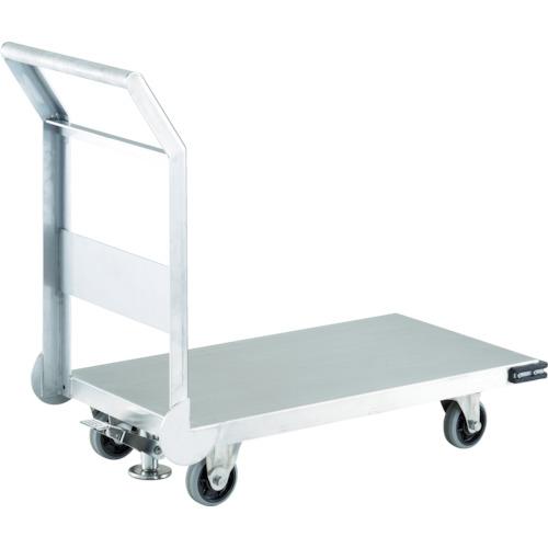 【SHS3S】TRUSCO ステンレス鋼板製運搬車 固定式 800X450 S付(1台)