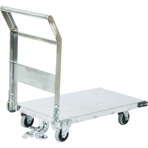 【SHS2S】TRUSCO ステンレス鋼板製運搬車 固定式 900X600 S付(1台)