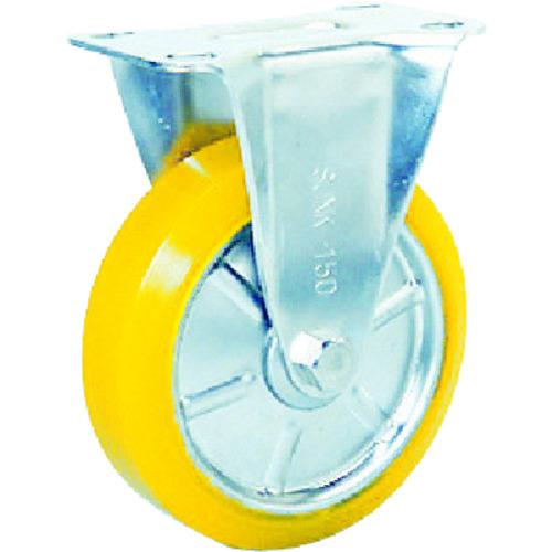 【SUNK150SEUW】シシク ステンレスキャスター 制電性ウレタン車輪付固定(1個)