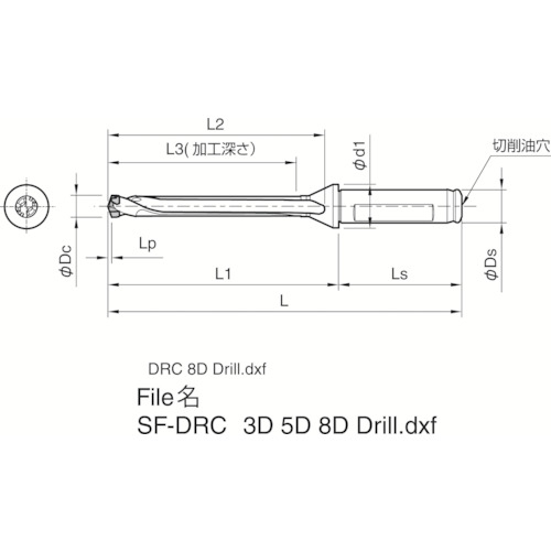 【SF16DRC120M8】京セラ ドリル用ホルダ(1本)