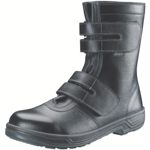 【SS3825.0】シモン 安全靴 長編上靴マジック式 SS38黒 25.0cm(1足)