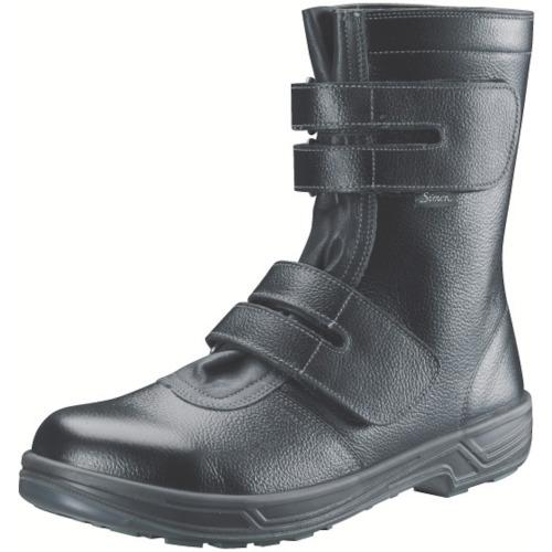 【SS3827.0】シモン 安全靴 長編上靴マジック式 SS38黒 27.0cm(1足)