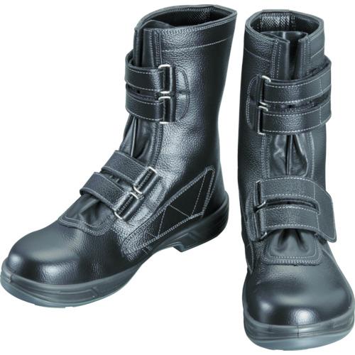 【SS3829.0】シモン 安全靴 長編上靴マジック式 SS38黒 29.0cm(1足)