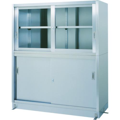 【VG15060】シンコー ステンレス保管庫上部ガラス戸下部ステンレス戸ベース仕様(1台)
