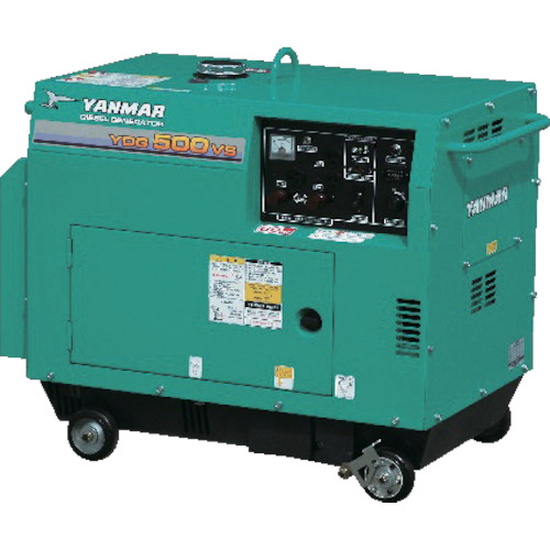【YDG500VS5E】ヤンマー 空冷ディーゼル発電機(1台)
