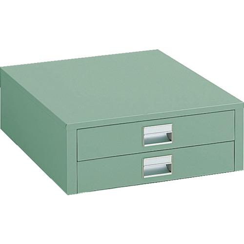 【UDC002】TRUSCO UDC型作業台用引出し 薄型2段 グリーン(1個)