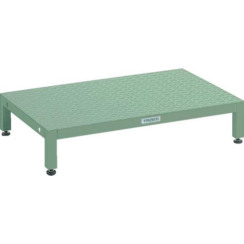 【UFSH0960S】TRUSCO 高床用縞鋼板ステップ 900X600XH190~220(1台)