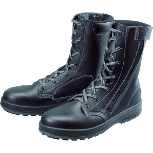 WS33黒C付 長編上靴 24.0cm(1足) 【WS33C24.0】シモン 安全靴