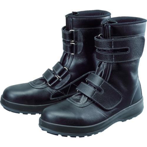 【WS3824.0】シモン 安全靴 長編上靴 マジック WS38黒 24.0cm(1足)