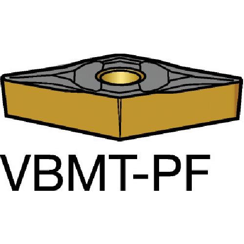 【VBMT110302PF:1525】サンドビック コロターン107 旋削用ポジ・チップ 1525(10個)