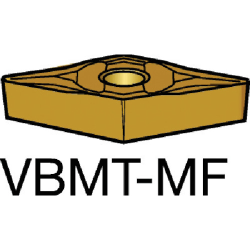 【VBMT160404MF:2015】サンドビック コロターン107 旋削用ポジ・チップ 2015(10個)