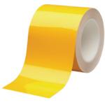 【VHT100Y】ミドリ安全 ベルデビバハードテープ 黄 100mmX20m(1巻)