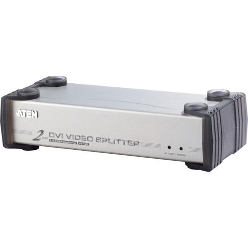 【VS162】ATEN ビデオ分配器 DVI / 1入力 / 2出力 / オーディオ /シングルリンク対応(1台)