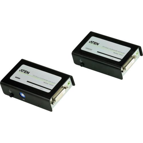 【VE602】ATEN ビデオ延長器 DVI / オーディオ / デュアルリンク対応(1台)