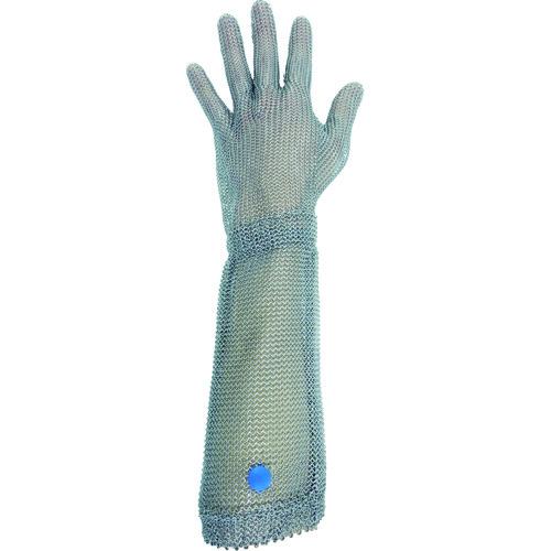 【WILCO550L】ミドリ安全 ステンレス製 耐切創クサリ手袋 5本指 ロングタイプ WILCO-550 Lサイズ 1枚(1枚)