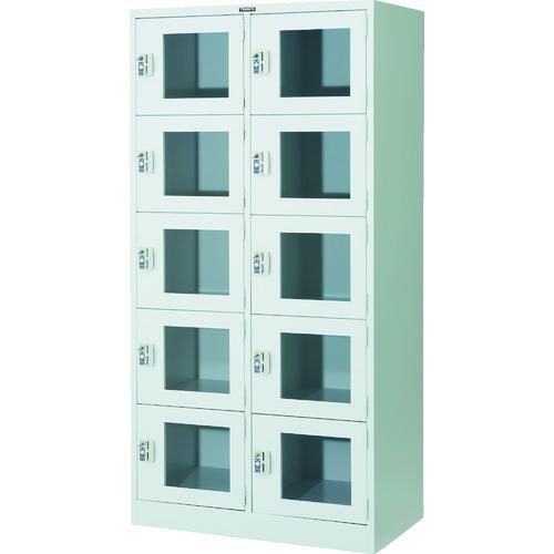 【WSV10MCR】TRUSCO 窓付きコインロッカー10人用(1台)