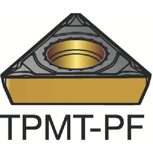 旋削用ポジ・チップ コロターン111 5015(10個) 【TPMT090202PF:5015】サンドビック