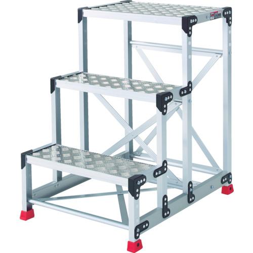 【TSFC369】TRUSCO 作業用踏台 アルミ製・縞板タイプ 天板寸法600X400XH900(1台)