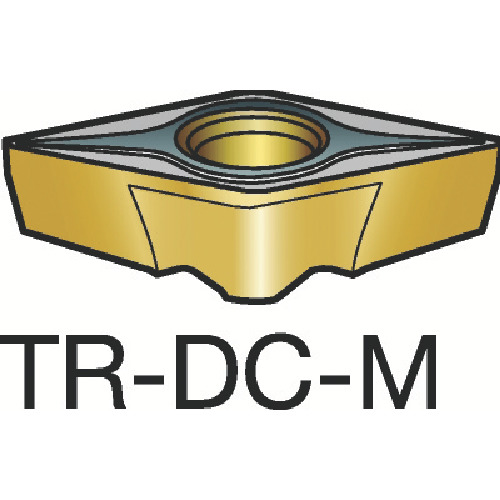 【TRDC1308M:1125】サンドビック コロターンTR 旋削用ポジ・チップ 1125(10個)