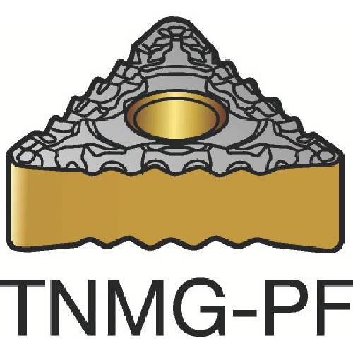 【TNMG160408PF:1515】サンドビック T-Max P 旋削用ネガ・チップ 1515(10個)