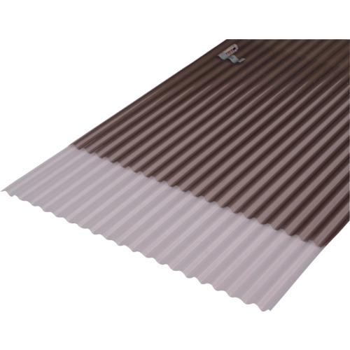 【NIPC407EBZ】IRIS 543757 波板(ポリカ製・エンボス加工) 1220×655×9.7 ブロンズ(10枚)