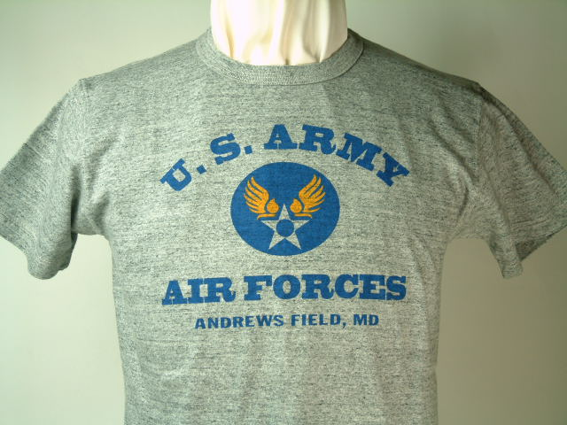 Buzz Rickson's (バズリクソンズ)S/S TシャツVINTAGE SLUBU.S. ARMY AIR FORCESANDREWS FIELD, MD