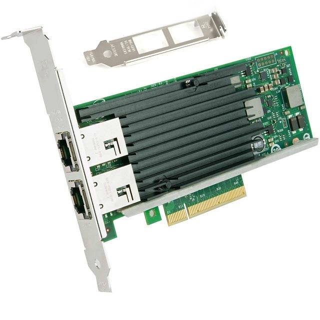 10ギガビット サーバ/デスクトップPCI-e 100Mbps/1/10Gbps自動ネゴシエーションネットワークアダプタ(インテル X540 チップセット T2)