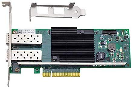 10GbE デュアルポート イーサネットコンバージドネットワークアダプタ(インテル XL710 チップ搭載 X710 DA2)、PCI-E X8/X16 デュアルSFP +ポート