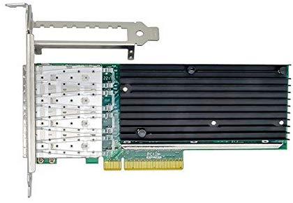 10GbE 4ポート イーサネットコンバージドネットワークアダプタ(インテル XL710 チップ搭載 X710-DA4)、PCI-E X8/X16 デュアルSFP +ポート