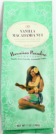 ハワイアンコーヒーが激安 ハワイアンパラダイス コナコーヒー 入荷予定 198g 粉タイプ7oz 日本 バニラマカダミアナッツ