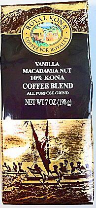 ハワイ土産 ハワイコナコーヒー ロイヤルコナコーヒー バニラマカダミア 信頼 粉タイプAD7oz 新入荷 流行 198g