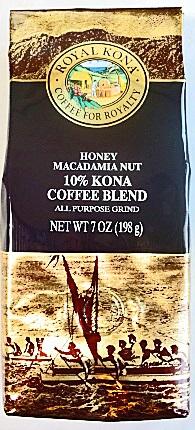 ロイヤルコナが激安 ロイヤルコナコーヒー 人気急上昇 ハニーマカダミア 198g 出色 粉タイプAD7oz