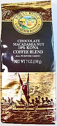 贈物 迅速な対応で商品をお届け致します ハワイお土産 ロイヤルコナコーヒー チョコマカダミア 198g 粉タイプAD7oz