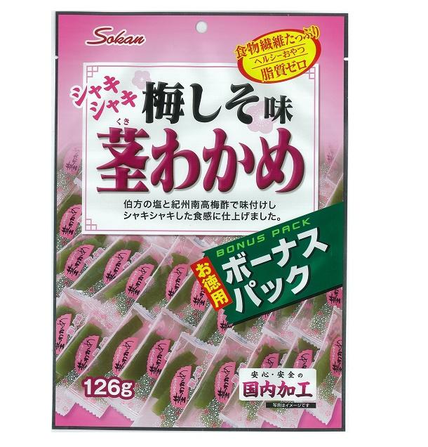 壮関のシャキシャキ茎わかめ梅しそ味徳用 126g×2袋 40%OFFの激安セール 正規品スーパーSALE×店内全品キャンペーン