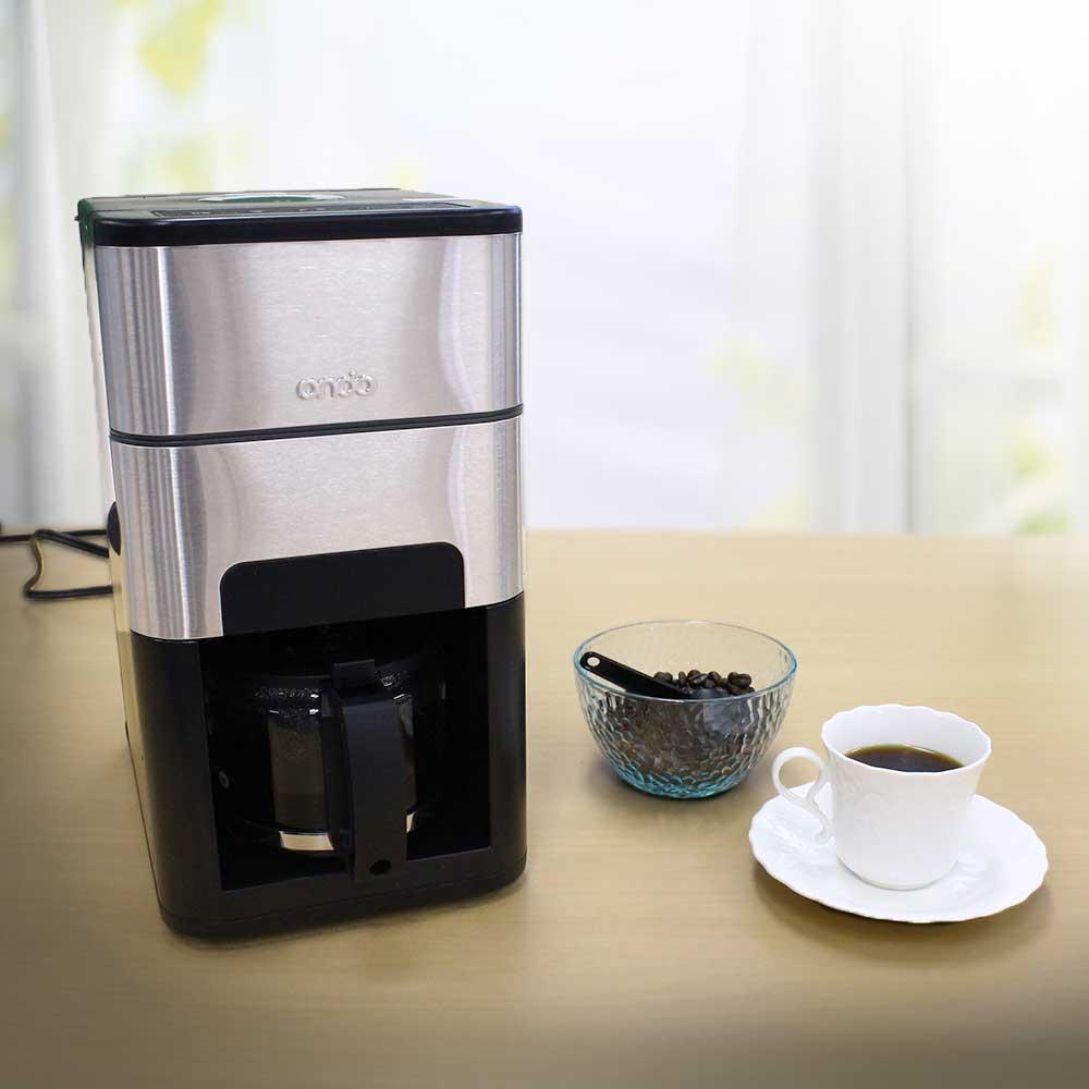 【最大P35倍!マラソン】石臼式コーヒーメーカー tsk   おしゃれ コーヒーメーカー 全自動 ステンレス メーカー ミル付きコーヒーメーカー 全自動コーヒーメーカー 電動 コーヒー器具 フィルター不要 コーヒードリッパー コーヒー ドリッパー コ