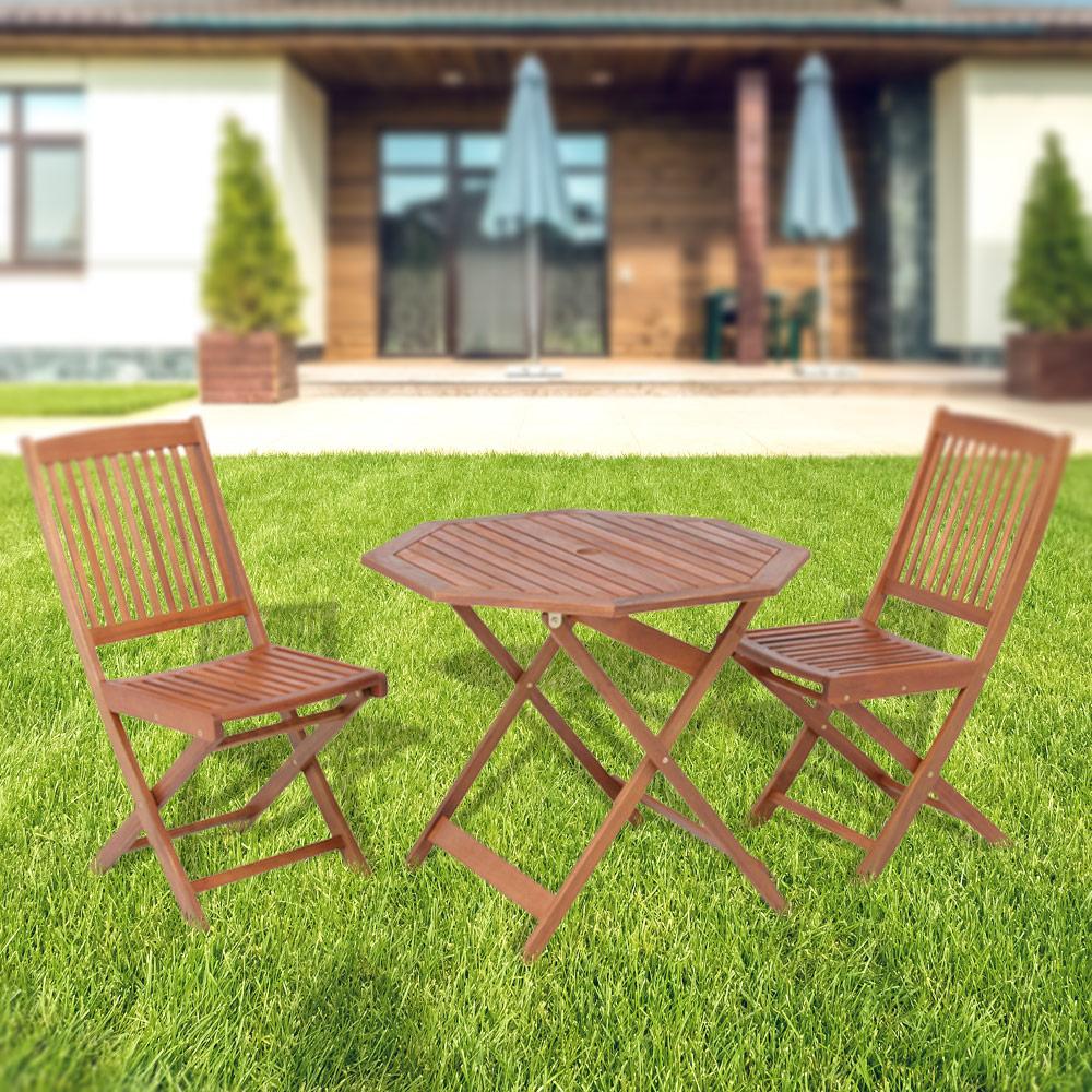 【代金引換不可】木製八角テーブル・チェア3点セット | ガーデンチェア ガーデンテーブル 折りたたみ ガーデニング 庭 セット テーブル 椅子 ガーデン ガーデン家具 テーブルセット テラス バルコニー ベランダ チェア チェアー ガーデンチェアー ガーデンテラス