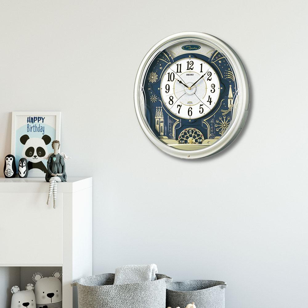 セイコー 電波からくり時計 | seiko セイコークロック とけい 新築祝い プレゼント 結婚祝い リビング ブランド おしゃれ 壁かけ時計 壁掛時計 電波掛け時計