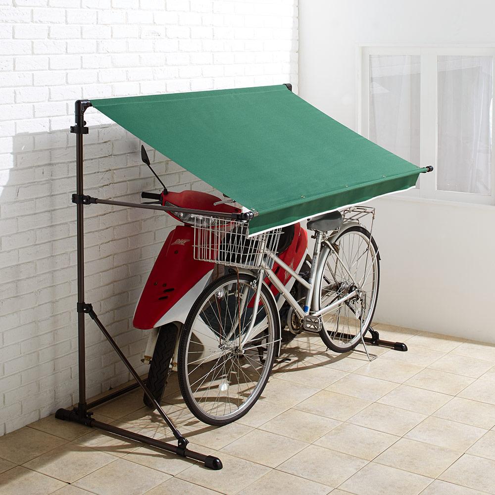 サイクルハウス|サイクルガレージ テント 庭 おしゃれ 家庭用 屋根 サイクルポート 屋外収納 自転車収納 物置 2台 自転車置き場 自転車 置き場 日よけ 日除け 自転車置場 雨よけ