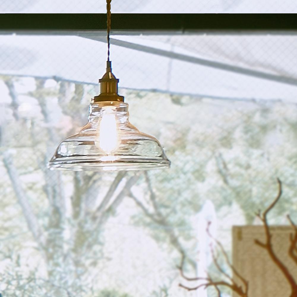 【代金引換不可】ガラスシェードランプ Lサイズ 1灯   おしゃれ 階段 ダイニング ライト ガラス 天井照明 照明 ペンダントライト リビング アンティーク リビング用 居間用 ダイニング用 食卓用 照明器具 ランプシェード おしゃれ照明 リビングライト 可愛い かわいい