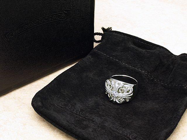 クロムハーツ CHROMEHEARTS 大粒ダイヤキーパーリング PLATプラチナ キーパーダイヤリング ファッション通販 中古 Seasonal Wrap入荷 送料無料 ロイヤルブルー 20.5号強