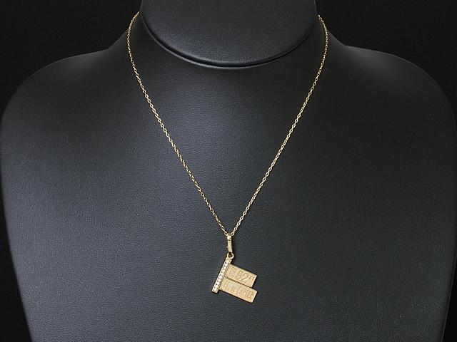 カルティエ CARTIER ヴィンテージ ストリートサインチャーム 750YGイエローゴールド ダイヤモンド 市場 中古 ペンダント ロイヤルブルー 記念日 ネックレストップとしても使用できます 送料無料