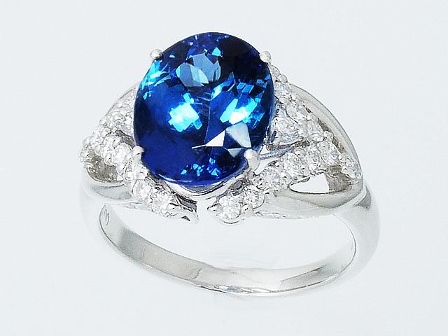 美しく上品なタンザナイトリング ダイヤモンドリング Pt900 人気急上昇 プラチナ ダイヤリング 指輪 ジュエリー 15号 送料無料 2020モデル ロイヤルブルー