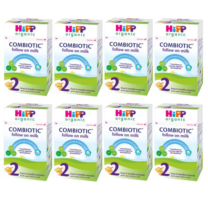【800g 8箱セット・6カ月から】HIPP(ヒップ)organic COMBIOTIC 有機原料使用 オーガニック粉ミルク【まとめ買いでお得!】