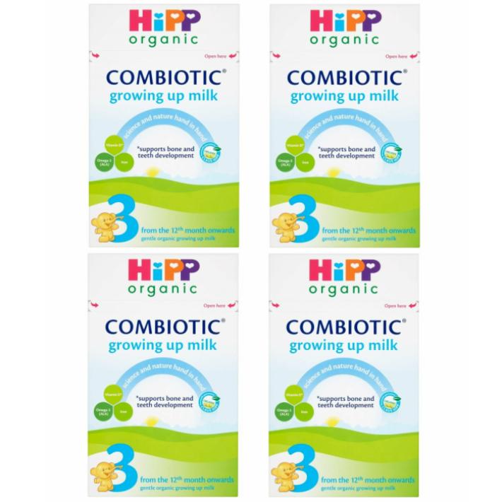 600g 4箱セット 1歳から HIPP ヒップ COMBIOTIC まとめ買いでお得 milk 結婚祝い 厳しいヨーロッパ基準の粉ミルク growing up 限定モデル