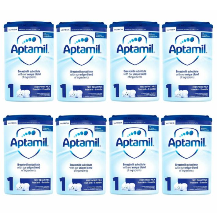 【800g 8個セット・新生児から】Aptamil (アプタミル) 乳児用粉ミルク [ヌクレオチド配合]【0カ月から・まとめ買いでお得!!】