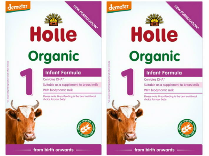 400g 2箱セット 0カ月から 海外並行輸入正規品 ホレ オーガニック 乳児用粉ミルク 店内全品対象 Holle Organic Infant Formula 粉ミルク milk 新生児から with DHA含有 1 ステップ Baby DHA 厳しいヨーロッパ基準の粉ミルク リニューアル