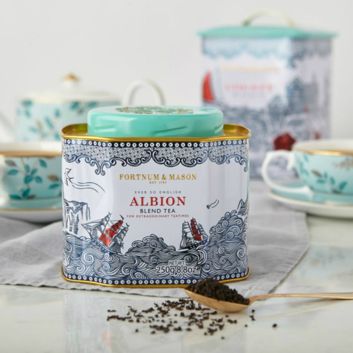 [250g x 4缶セット] FORTNUM  MASON Albion Blend Tea Loose Leaf フォートナム・アンド・メイソン アルビオンブレンド リーフティー 英国紅茶 [イギリス直送]