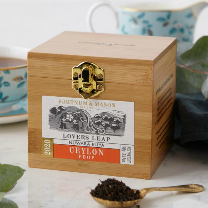 90gx1箱 FORTNUM MASON 完売 Lover's Leap Ceylon 激安特価品 Wooden Caddy Loose リーフティー メイソン アンド 英国紅茶 Tea Leaf フォートナム イギリス直送